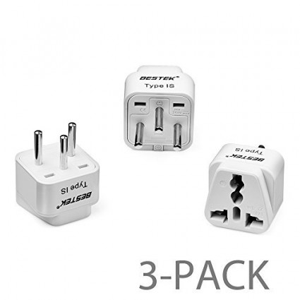 BESTEK 3-Pack Travel Adapter Plug Converter